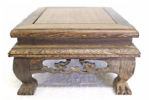 Hardwood display table, Square, Style 10-14